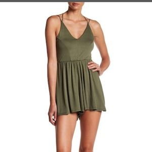 LEIBL'38 GREEN MODAL/ Poly ROMPER